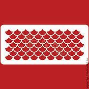 Материалы для творчества ручной работы. Ярмарка Мастеров - ручная работа Трафарет Черепица средняя 210х95мм  T222003. Handmade.