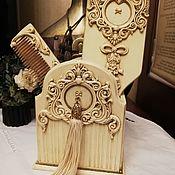 Комплекты аксессуаров для дома ручной работы. Ярмарка Мастеров - ручная работа Набор расчесок с подставкой. Handmade.