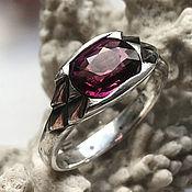 Украшения handmade. Livemaster - original item Men`s silver ring with purple Tourmaline Rubellite handmade. Handmade.