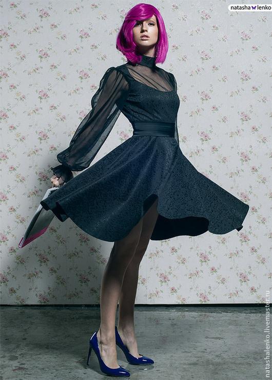 Платья ручной работы. Ярмарка Мастеров - ручная работа. Купить Платье из черного жаккарда. Handmade. Черный, платье, платье вечернее