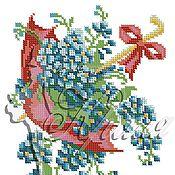 Материалы для творчества ручной работы. Ярмарка Мастеров - ручная работа Зонт с незабудками. Схема для вышивки бисером.. Handmade.