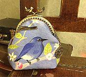 Сумки и аксессуары ручной работы. Ярмарка Мастеров - ручная работа Синяя птица. Handmade.