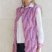 Одежда handmade. Livemaster - original item Tank top braids purple. Handmade.