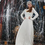 Одежда handmade. Livemaster - original item Winter dress Milky White. Handmade.