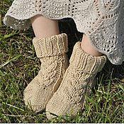 Работы для детей, ручной работы. Ярмарка Мастеров - ручная работа Детские хлопковые носки Ваниль. Handmade.