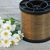 Материалы для творчества handmade. Livemaster - original item 0,3 mm brass wire. Handmade.