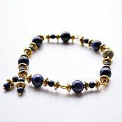 Украшения handmade. Livemaster - original item Aztec gold lapis lazuli bracelet for women. Handmade.