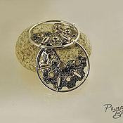 Украшения ручной работы. Ярмарка Мастеров - ручная работа серебряные серьги с золотой отделкой. Handmade.