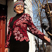 """Одежда ручной работы. Ярмарка Мастеров - ручная работа Жакет """"Цветочный"""". Handmade."""