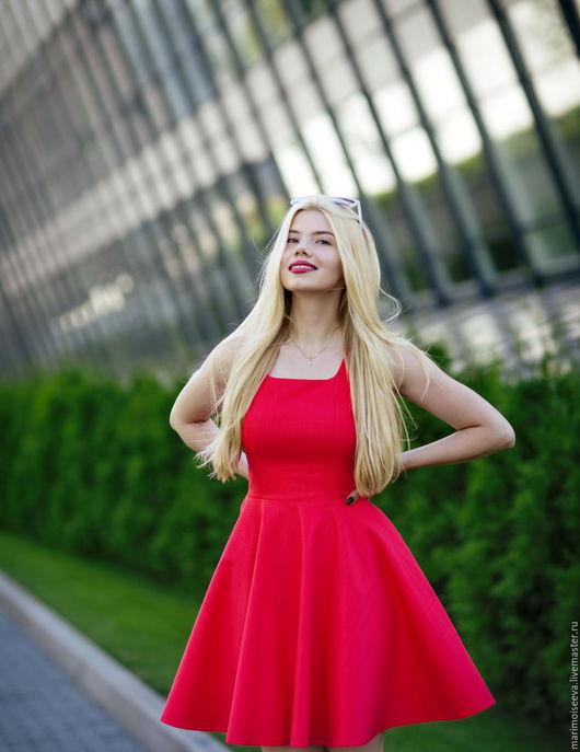 """Платья ручной работы. Ярмарка Мастеров - ручная работа. Купить Платье  """"Lady in Red"""". Handmade. Ярко-красный"""