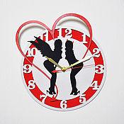 """Часы классические ручной работы. Ярмарка Мастеров - ручная работа Часы настенные """"Ангел и демон"""".. Handmade."""