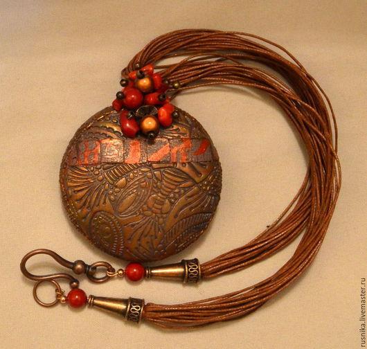 Кулоны, подвески ручной работы. Ярмарка Мастеров - ручная работа. Купить Кулон из полимерной глины НИКИТА. Handmade. Кулон
