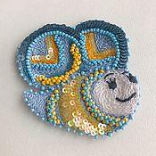 Аппликации ручной работы. Ярмарка Мастеров - ручная работа Аппликация Люневильская вышивка Пчелка. Handmade.