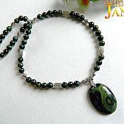 Украшения handmade. Livemaster - original item Necklace made of Jasper kambaba crocodile skin.. Handmade.