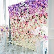 Декор ручной работы. Ярмарка Мастеров - ручная работа Цветочная стена, фотозона. Handmade.