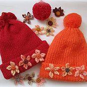 Работы для детей, ручной работы. Ярмарка Мастеров - ручная работа Яркие шапочки для девочек. Handmade.