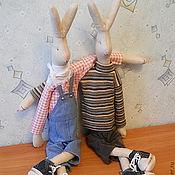 Куклы и игрушки ручной работы. Ярмарка Мастеров - ручная работа Кролики Maileg Дэн и Крис. Не Тильда. Handmade.