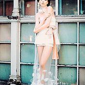 Одежда ручной работы. Ярмарка Мастеров - ручная работа Авангардное корсетное платье с прозрачной юбкой... Handmade.