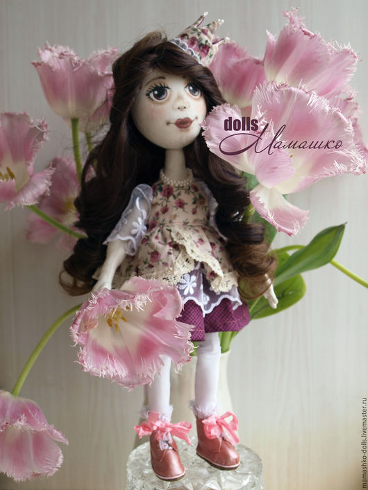 Коллекционные куклы ручной работы. Ярмарка Мастеров - ручная работа. Купить Авторская текстильная шарнирная кукла ручной работы Агния. Handmade.