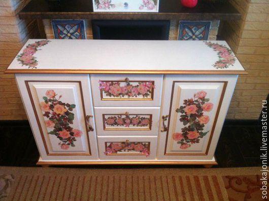 """Мебель ручной работы. Ярмарка Мастеров - ручная работа. Купить Комод """"Аннабэль"""". Handmade. Комод, пучкова юлия, розовые цветы"""