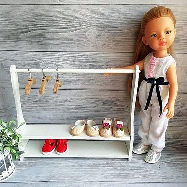 Куклы и игрушки ручной работы. Ярмарка Мастеров - ручная работа Стойка вешалка для кукольной одежды. Handmade.