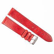 Украшения handmade. Livemaster - original item Red Genuine Leather strap. Handmade.