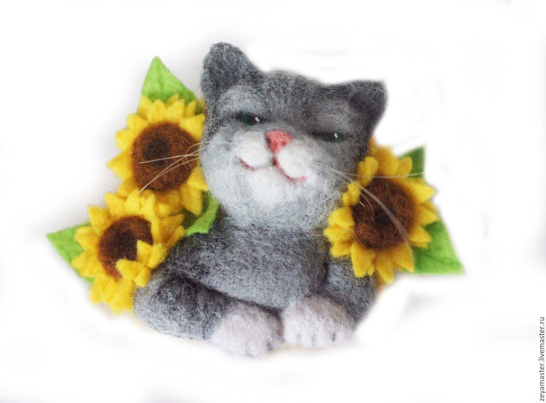 Коты в подсолнухах