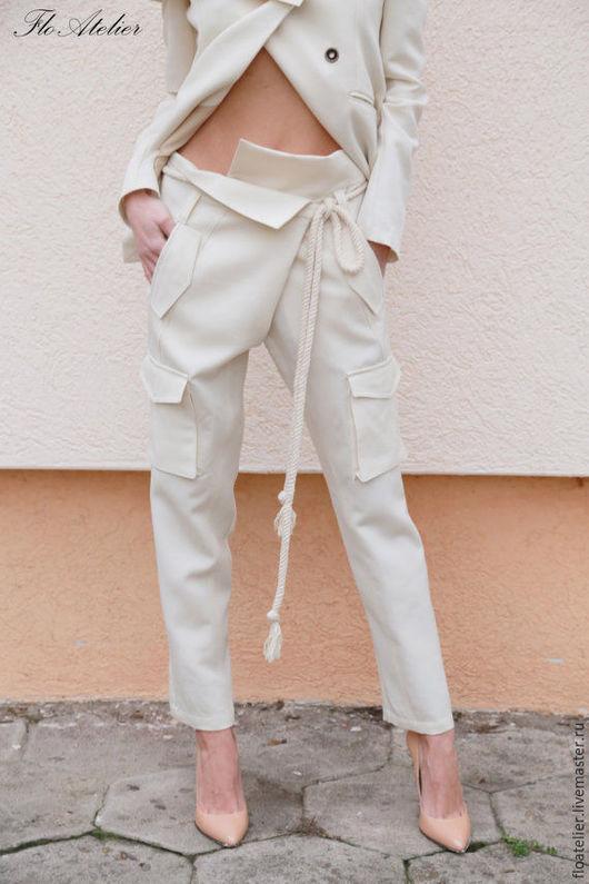 Брюки, шорты ручной работы. Ярмарка Мастеров - ручная работа. Купить Элегантные брюки/Женские стильные брюки/F1554. Handmade. Брюки