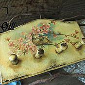 """Вешалки и крючки ручной работы. Ярмарка Мастеров - ручная работа Вешалка """"Весенние трели"""". Handmade."""