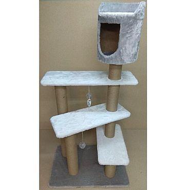 Товары для питомцев ручной работы. Ярмарка Мастеров - ручная работа Балуй-34 джут винтовая лестница с верхним домиком. Handmade.