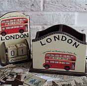 "Канцелярские товары ручной работы. Ярмарка Мастеров - ручная работа Набор ""LONDON 3"". Handmade."
