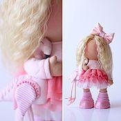 Куклы и игрушки ручной работы. Ярмарка Мастеров - ручная работа Девочка с фламинго. Handmade.