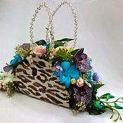 Цветы и флористика handmade. Livemaster - original item Handbag with flowers Adorable smile. Handmade.