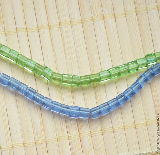 Для украшений ручной работы. Ярмарка Мастеров - ручная работа. Купить Стеклянные бусины куб 5 x 5 мм. Handmade.