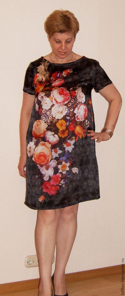 Платья ручной работы. Ярмарка Мастеров - ручная работа. Купить Платье летнее шелковое натуральный шелк. Handmade. Темно-серый