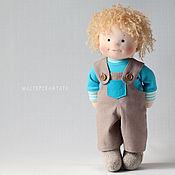 Куклы и игрушки ручной работы. Ярмарка Мастеров - ручная работа Тошка, игровая текстильная кукла-мальчик. Handmade.