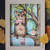 Картины и панно ручной работы. Ярмарка Мастеров - ручная работа Осеннее чаепитие. Handmade.