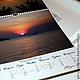 Вариант работы с представленным изображением\ Календарь двусторонний перекидной настенный 30х30 см,  дизайнерская металлическая бумага, крепление- ригель\ Разворот
