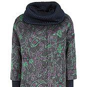 Одежда handmade. Livemaster - original item Spring coat with knit. Handmade.