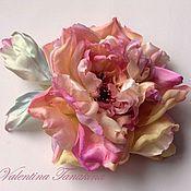 Цветы и флористика ручной работы. Ярмарка Мастеров - ручная работа цветок из натурального шелка, пушистая роза. Handmade.