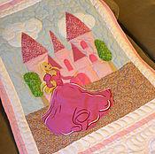 Для дома и интерьера ручной работы. Ярмарка Мастеров - ручная работа Покрывало с принцессой в розовом. Handmade.