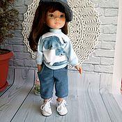 Одежда для кукол ручной работы. Ярмарка Мастеров - ручная работа Свитшот+брючки-бермуды+кепка для Паола Рейна. Handmade.