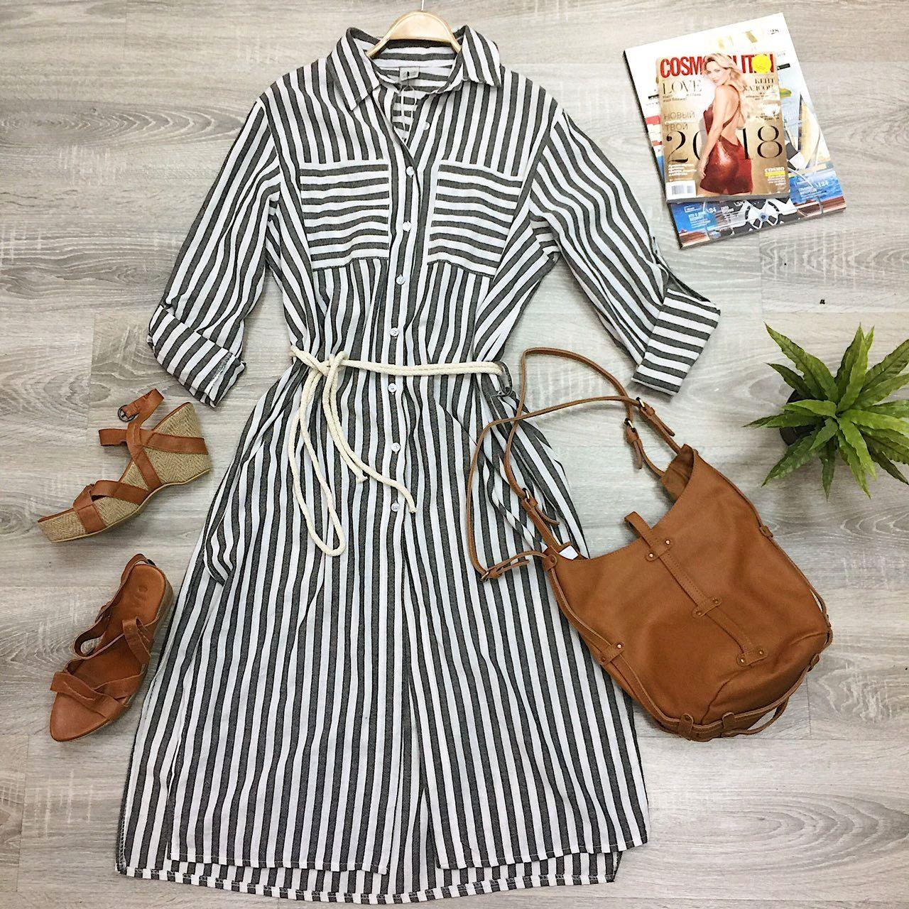 Striped shirt dress, Dresses, Moscow,  Фото №1
