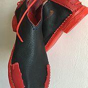 Ботинки ручной работы. Ярмарка Мастеров - ручная работа Красные и синие кожаные полуботинки и туфли ручной работы. Handmade.