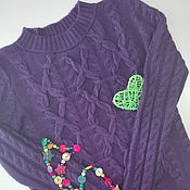 Одежда ручной работы. Ярмарка Мастеров - ручная работа Джемпер из кашемира. Handmade.