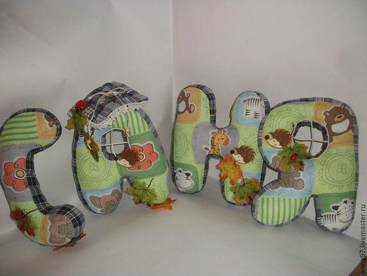 Персональные подарки ручной работы. Ярмарка Мастеров - ручная работа. Купить Буквы-подушки. Handmade. Зеленый, буквы для интерьера