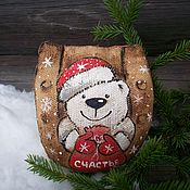 Подарки к праздникам handmade. Livemaster - original item Coffee and gingerbread horseshoes ... Polar bear)). Handmade.