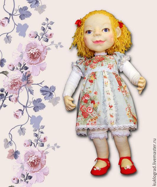 Коллекционные куклы ручной работы. Ярмарка Мастеров - ручная работа. Купить Эльжбетка. Авторская каркасная кукла, скульптурный текстиль.. Handmade.
