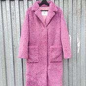 Одежда ручной работы. Ярмарка Мастеров - ручная работа SALE Шуба из фиолетовой овчины прямого силуэта. Handmade.