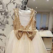 Работы для детей, ручной работы. Ярмарка Мастеров - ручная работа Золотое платье с пышной юбкой. Handmade.